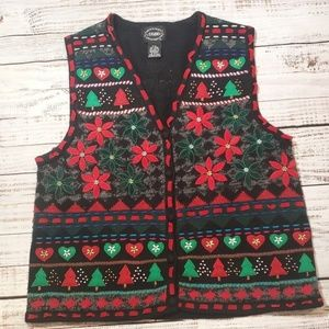 Vintage Christmas Knitted Sweater Vest